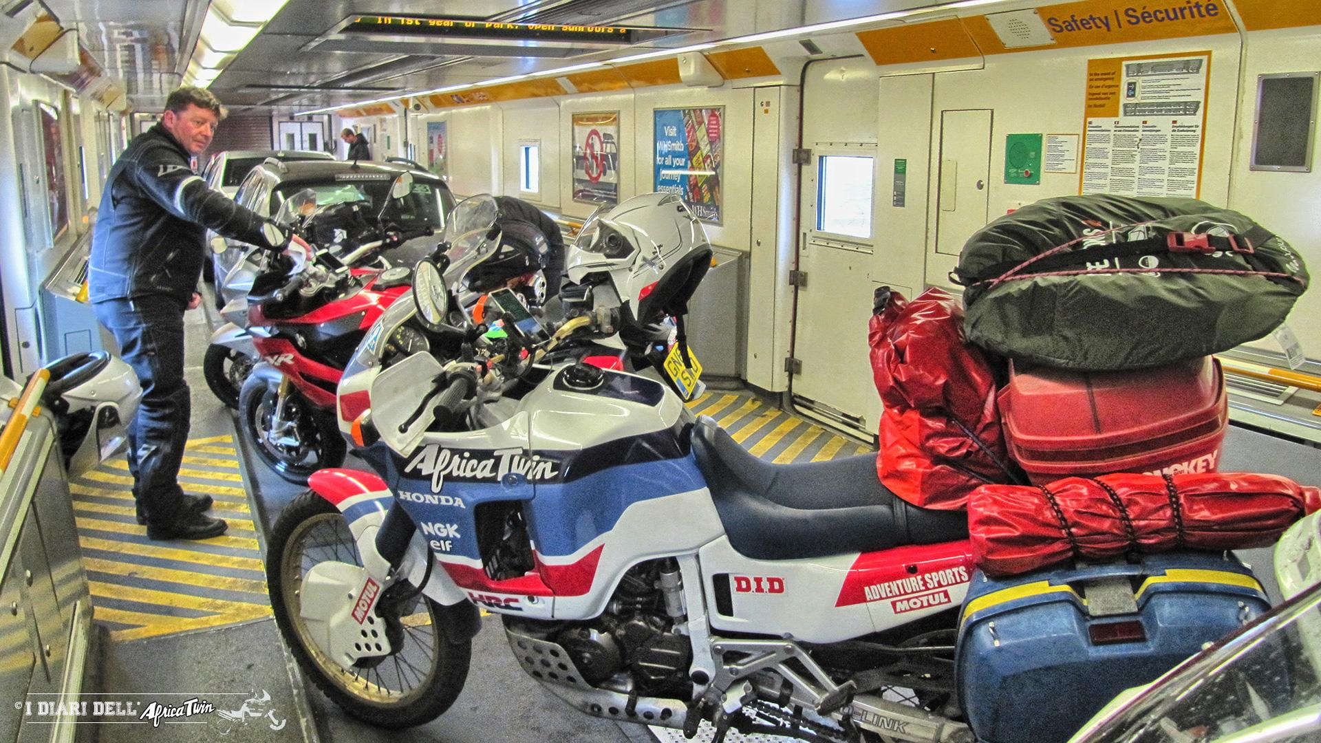 A bordo dello shuttle dell'Eurotunnel