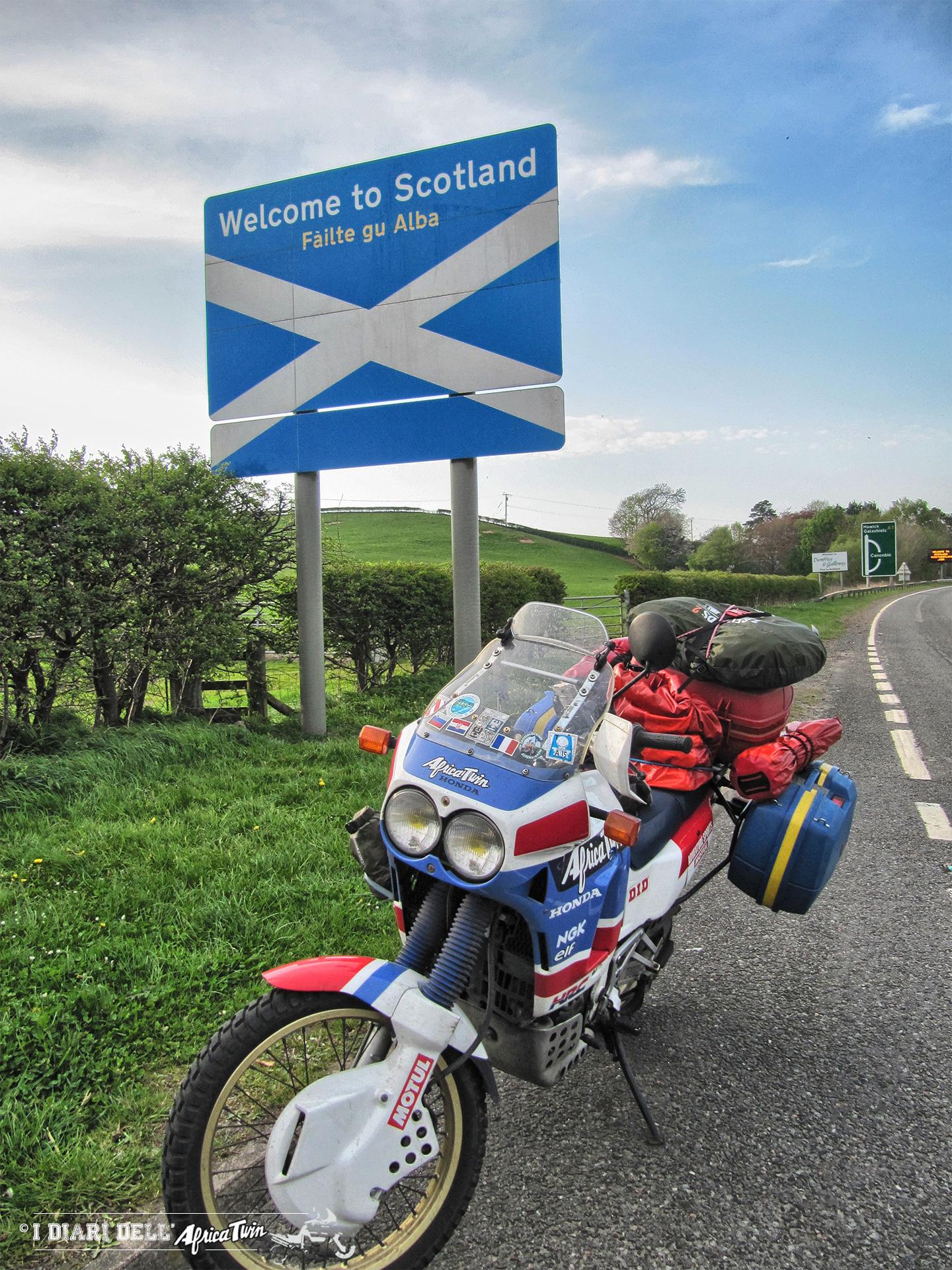 L'arrivo in Scozia