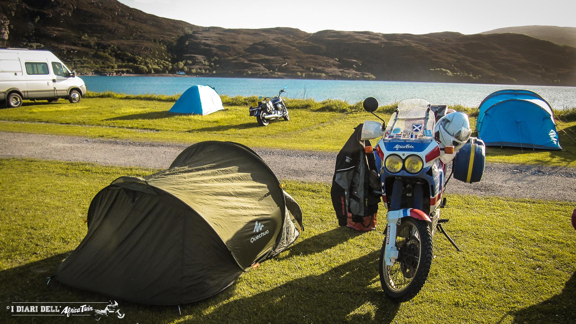 Campeggio nelle Highlands