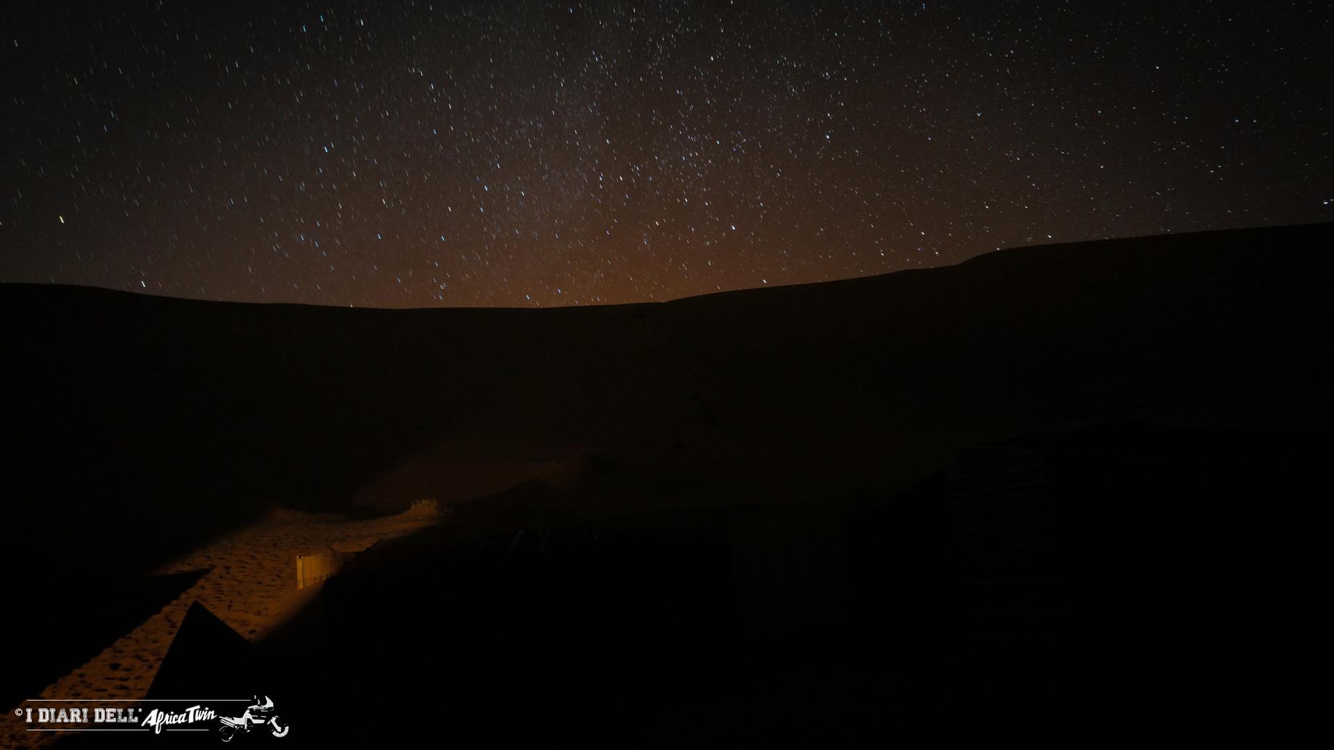 Cielo stellato del Sahara