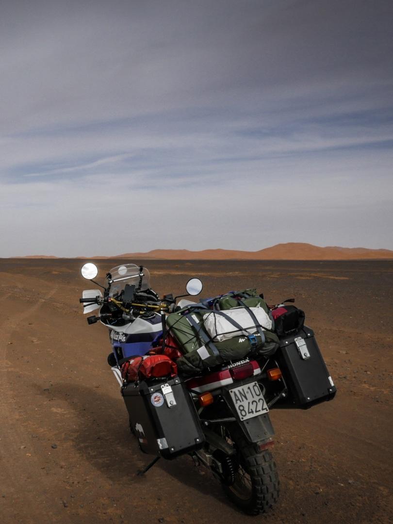 fissaggio tenda quechua 2 seconds sulla moto